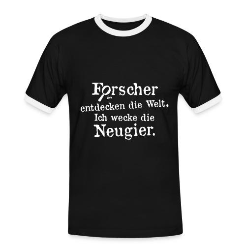Herren-Kontrast-Shirt Motiv Basti Image - Männer Kontrast-T-Shirt
