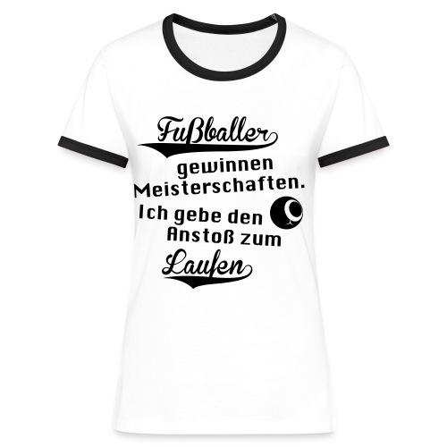 Frauen Kontrast-Shirt Motiv David Image - Frauen Kontrast-T-Shirt