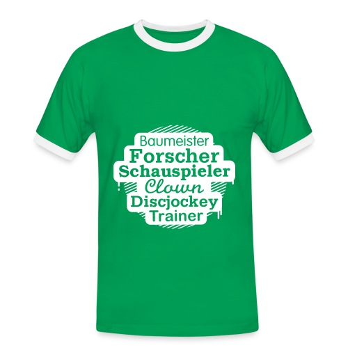 Herren-Kontrast-Shirt Motiv Baumeister - Männer Kontrast-T-Shirt