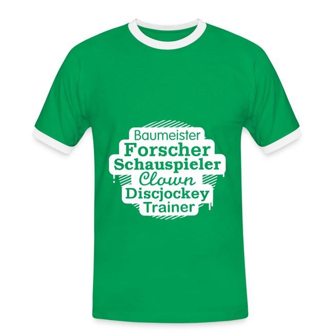 Herren-Kontrast-Shirt Motiv Baumeister