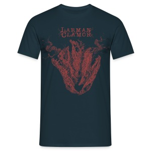 Larman Clamor Alligator Heart (dark design) (navy) - Men's T-Shirt