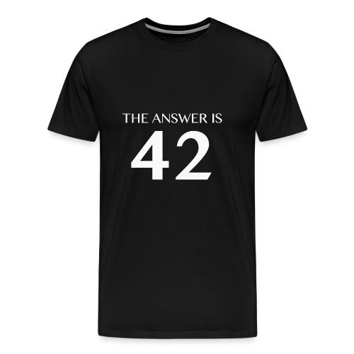 Answer is 42 Man Classic T-Shirt - Men's Premium T-Shirt