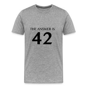 Answer is 42 Man Classic T-Shirt - Men's Premium T-Shirt