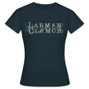 Larman Clamor (logo) (navy) - Women's T-Shirt