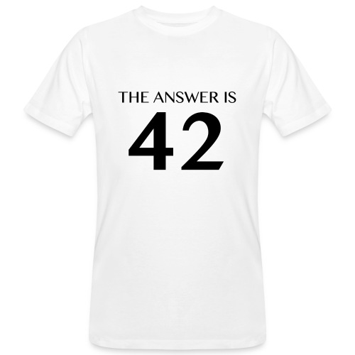 Answer is 42 Men's Organic T-Shirt White - Men's Organic T-Shirt