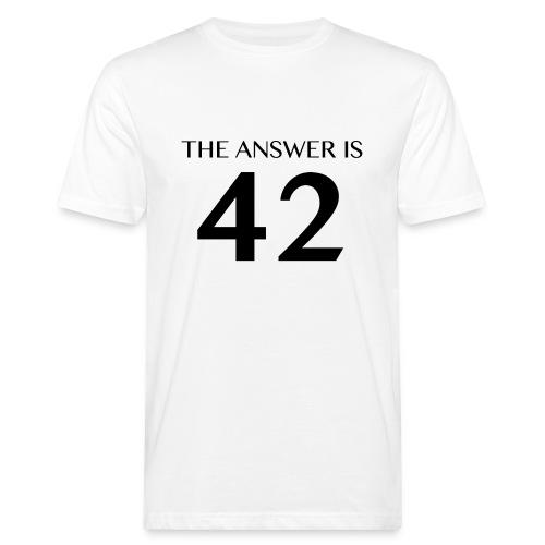 Answer is 42 Men's Organic T-Shirt White - Men's Organic T-Shirt