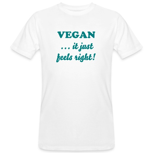 Vegan ...it just feels right! - bianca - T-shirt ecologica da uomo