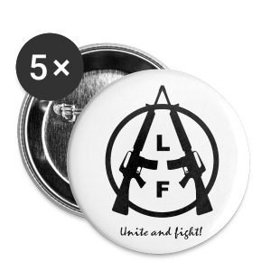 Animal Liberation Front | UNITE AND FIGHT BUTTONS 25mm - Buttons klein 25 mm