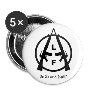 Animal Liberation Front | UNITE AND FIGHT BUTTONS 56mm - Buttons groß 56 mm