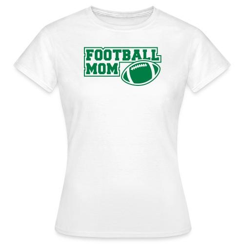 Girlie Footballmom white/green - Frauen T-Shirt