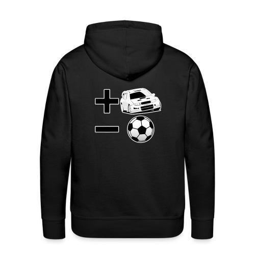 Felpa +rally - calcio - Felpa con cappuccio premium da uomo