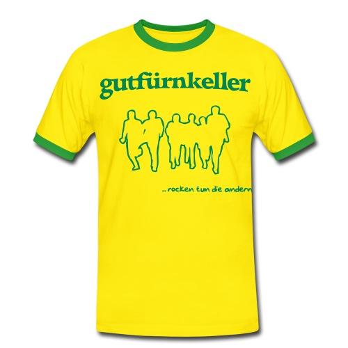 Brasilien-Tarnhemd, Druck grün - Männer Kontrast-T-Shirt