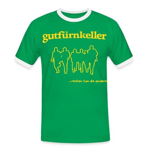Brasilien-Tarnhemd, Druck goldgelb - Männer Kontrast-T-Shirt