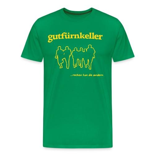 Leibchen H Druck goldgelb - Männer Premium T-Shirt