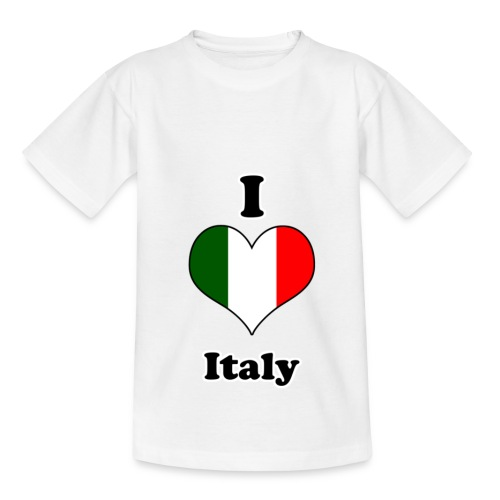 T-Shirt kinderen I Love Italy - Kinderen T-shirt