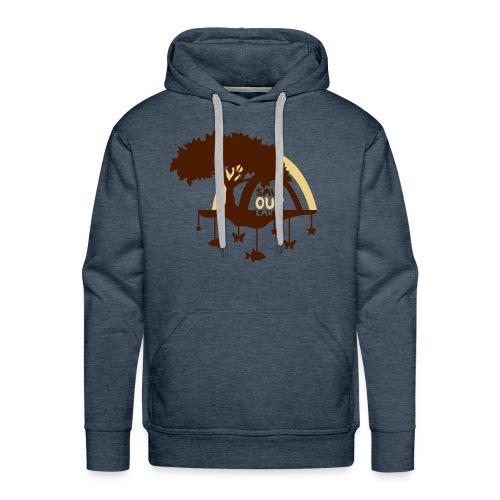 Saveourearth_2f Sweat&capuche (h) marron - Sweat-shirt à capuche Premium pour hommes