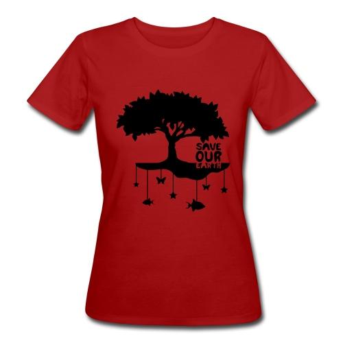 saveourearth T-Shirt Neutralite Climatique (f) vert - T-shirt bio Femme