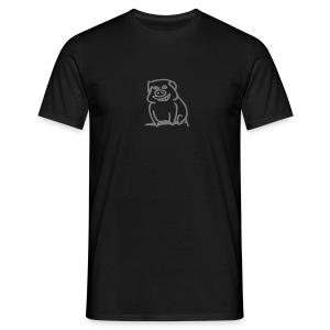 Trüffelschwein vorne / Savoy Truffle hinten grau, Farbe wählbar - Männer T-Shirt