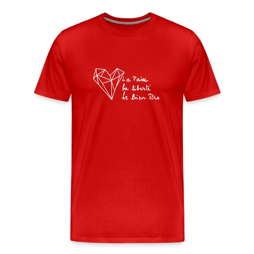 The Heart of Grace - White - Herre premium T-shirt