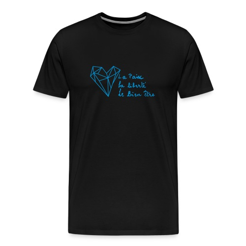 The Heart of Grace - Blue - Herre premium T-shirt