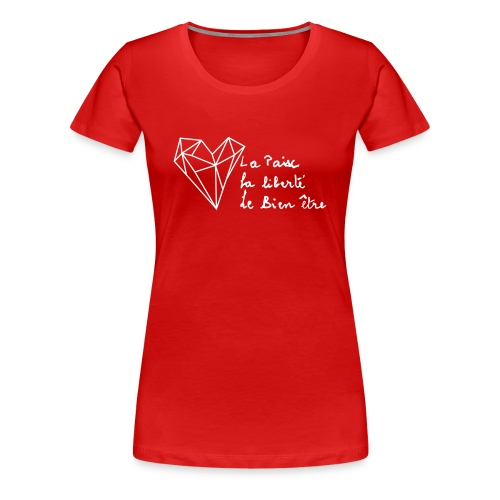 The Heart of Grace - White - Dame premium T-shirt