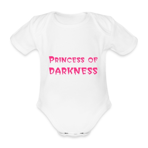 princess of darkness - Organic Short-sleeved Baby Bodysuit