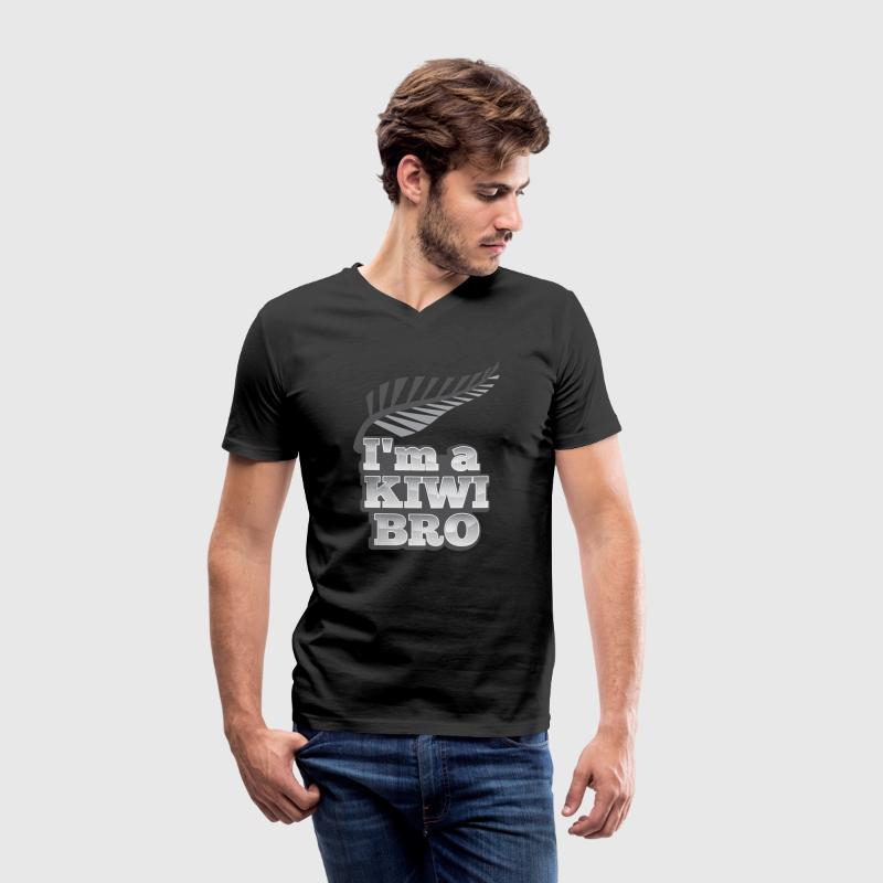 I'm a KIWI BRO with silver fern New Zealand T-Shirts - Men's V-Neck T-Shirt
