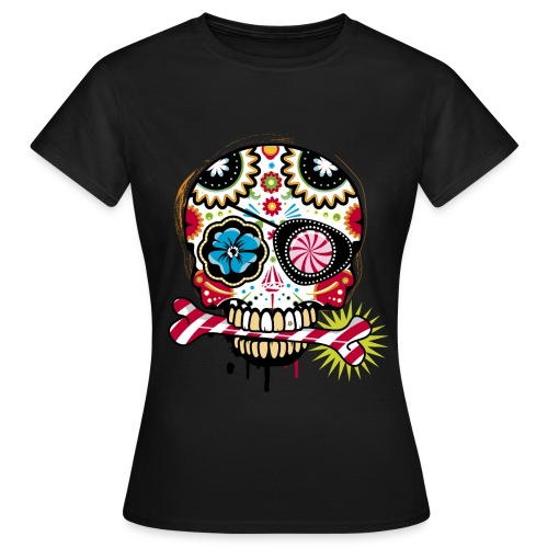 Women Black Skull - Women's T-Shirt