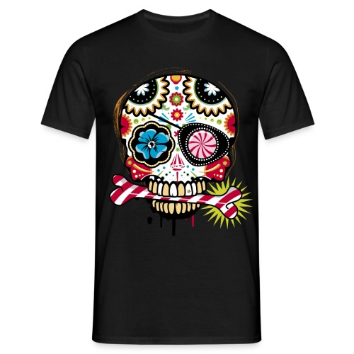 Men Black Skull - Men's T-Shirt