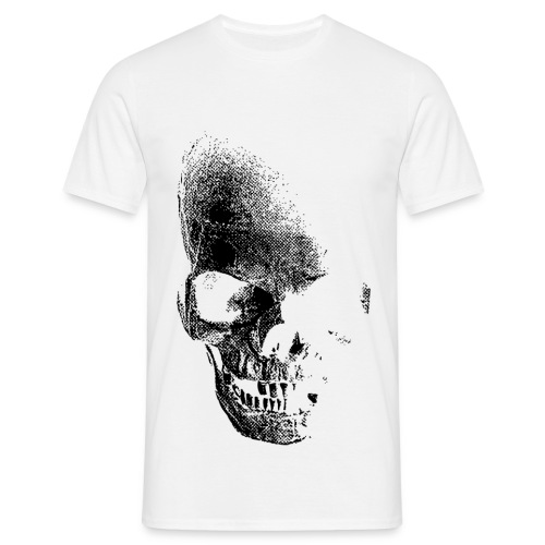 Men Skull White - Men's T-Shirt