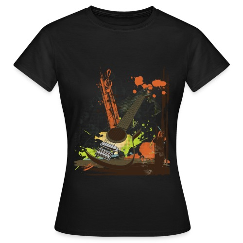 Women Guitar Black - Women's T-Shirt