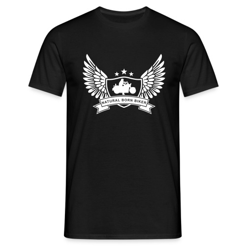 Men Biker Black - Men's T-Shirt