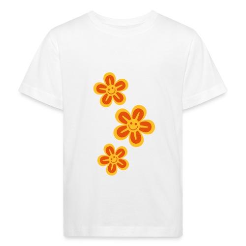 Retro-kukat teeppari - Lasten luonnonmukainen t-paita