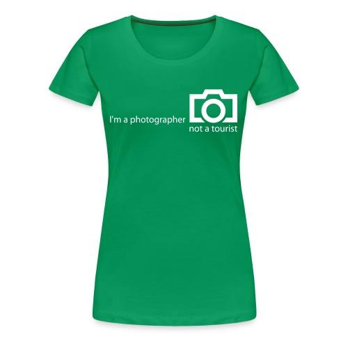 I'm a photographer GIRL - Frauen Premium T-Shirt