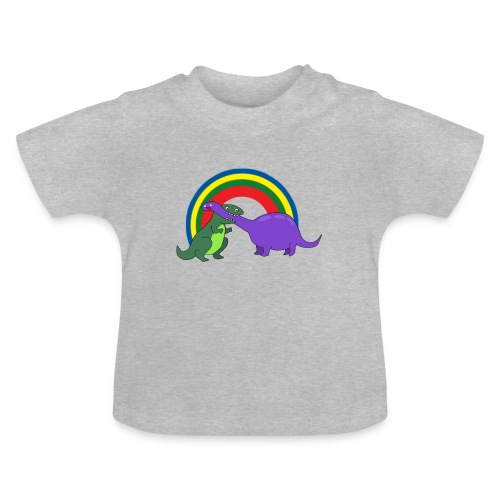 Combat de dinosaures - T-shirt Bébé