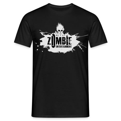 Zombie Entertainment Shirt! (Logo Weiß-Schwarz) - Männer T-Shirt