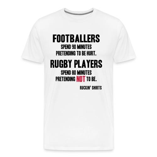 Footballers Pretend to Be Hurt - Men's Premium T-Shirt
