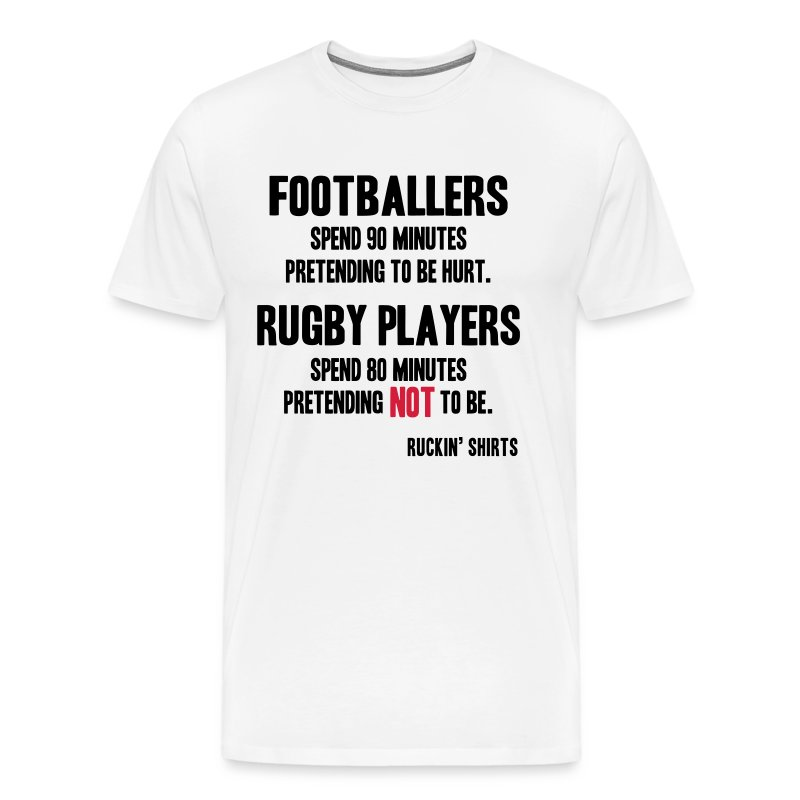 Footballers Pretend to Be Hurt - Men's Premium T-Shirt