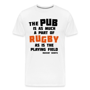 The Pub is a Part of Rugby - Men's Premium T-Shirt