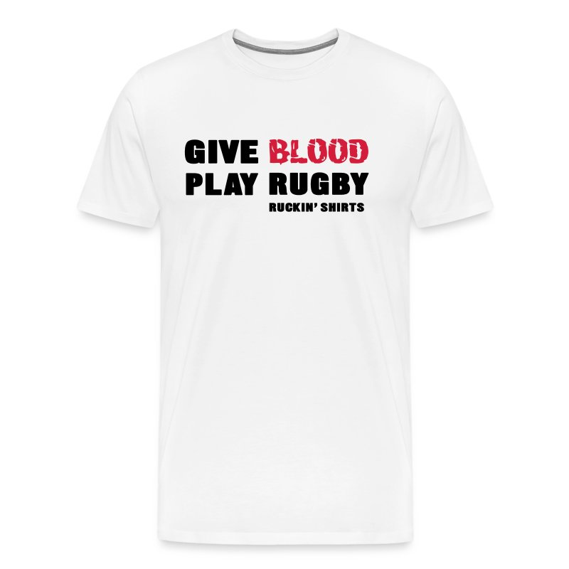 Give Blood. Play Rugby. - Men's Premium T-Shirt