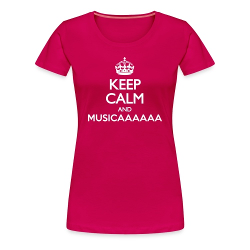 T-shirt - Keep Calm and Musica - Maglietta Premium da donna
