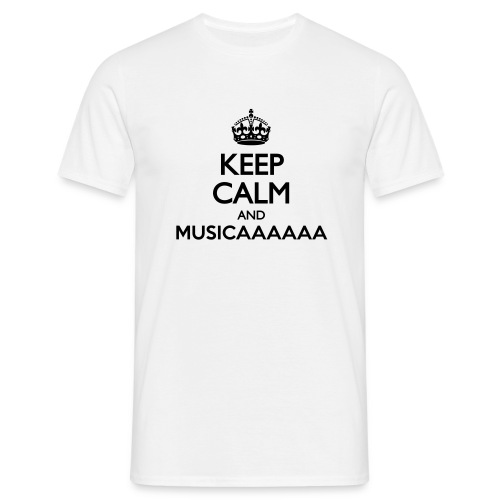 T-shirt - Keep Calm and Musica - Maglietta da uomo