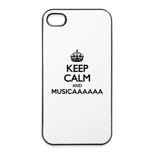 Custodia rigida per iPhone 4/4s - Keep Calm and Musica - Custodia rigida per iPhone 4/4s