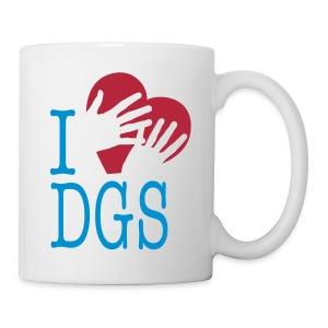 Tasse - Hand auf Herz = Liebe (DGS)