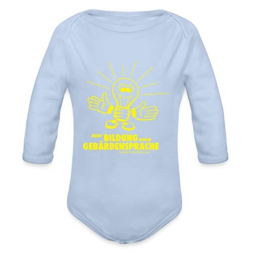 Mehr Bildung durch GS (Baby Langarm Body) - Baby Bio-Langarm-Body