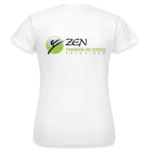 Frauen Standard T-Shirt, Motiv vorne & hinten - Frauen T-Shirt