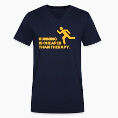 Running Is Cheaper Than Therapy T-Shirts