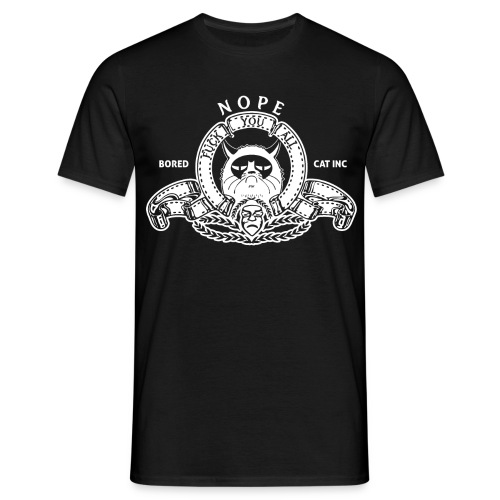 [Bored Cat] noir - Men's T-Shirt