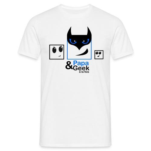 Bat Papa & Geek à la fois - T-shirt Homme
