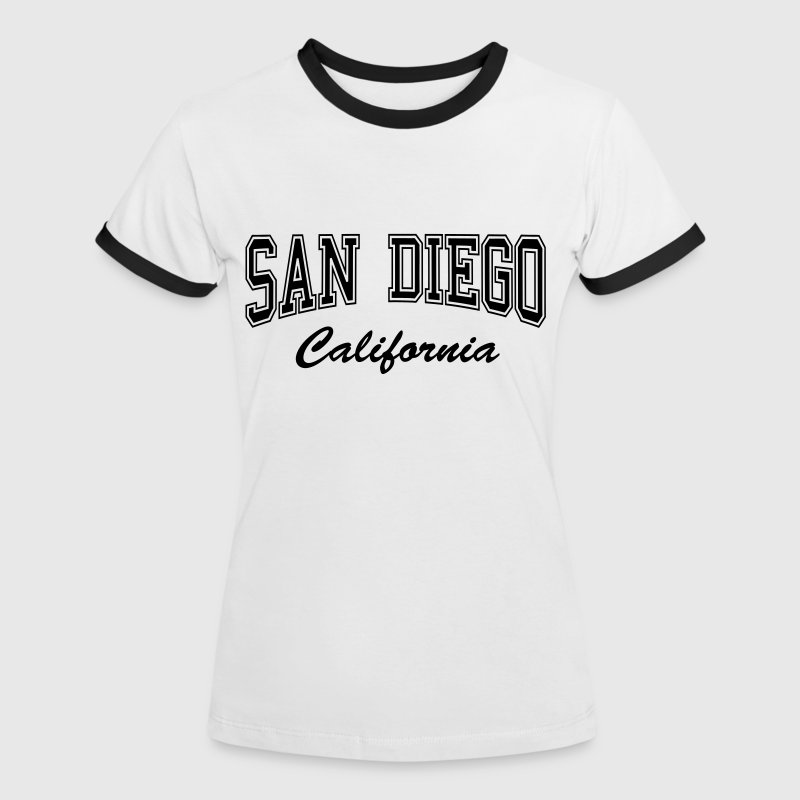 San Diego California T-Shirts - Women's Ringer T-Shirt